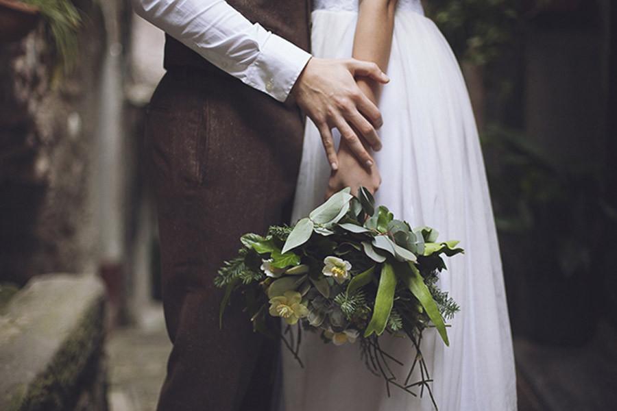 Matrimonio Botanico : un abito da sposa Elena Pignata